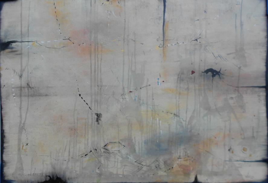 H.I.G. 70 x 100cm Öl und Acryl auf Leinen