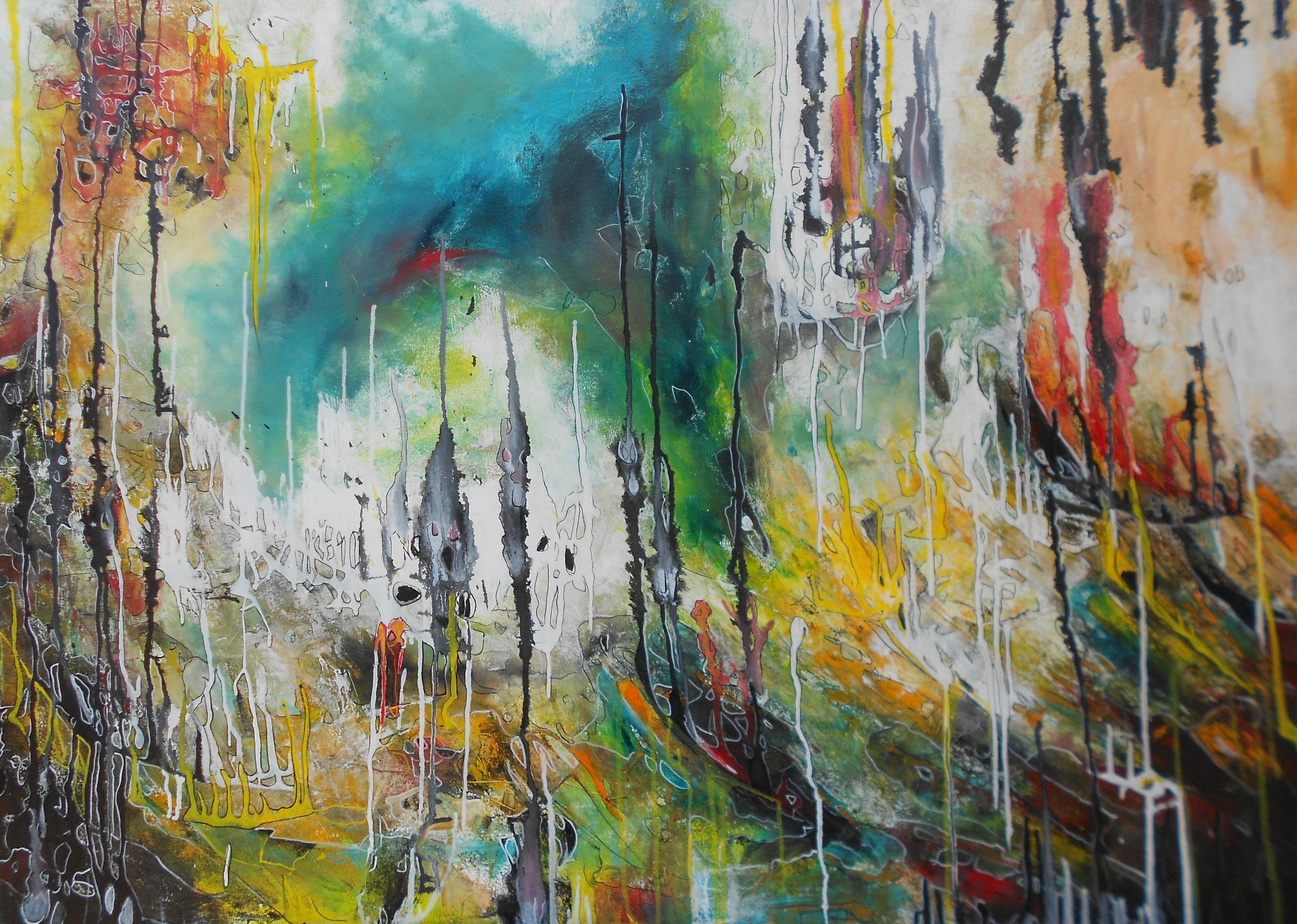 Zwielichtige Seelen 100 x 150cm